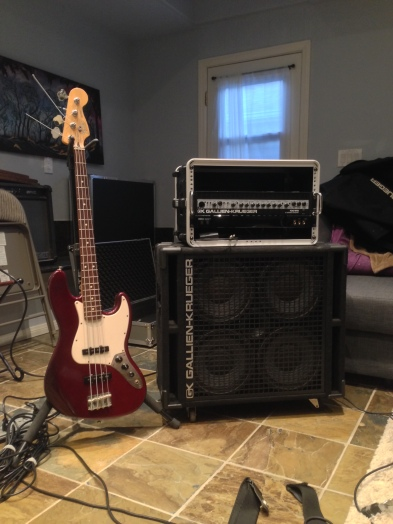John Joyce's Fender Jazz Bass and amp setup