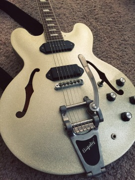 Epiphone Casino with Bigsby and Lollar P90s.