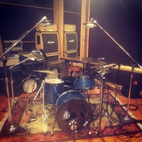 1967 Ludwig kit in recording studio