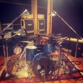 1967 Ludwig kit in recording studio