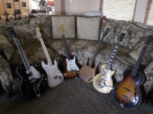 Scottie Blinn's guitar collection