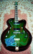 Custom painted semi-hollowbody