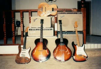 Scottie Blinn's home guitar/amp collection