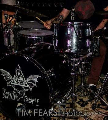 King's Sonor kit. Photo by Tim Fears