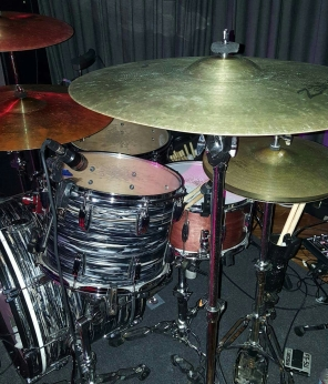 King's Ludwig kit in a live setting