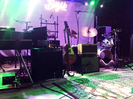 Taylor Goldsmith's onstage setup
