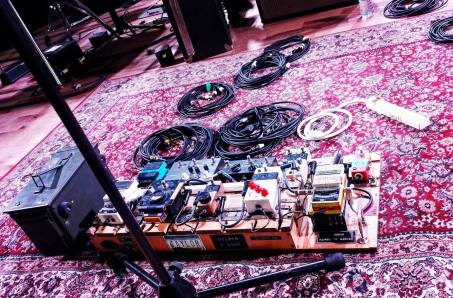 Goldsmith's pedalboard (photo by Eric James)